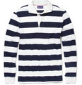 Ralph Lauren Purple Label Striped Cotton Rugby Shirt