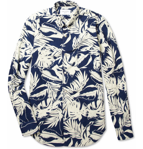 Our Legacy 1950s Pot Plant Printed Cotton Shirt