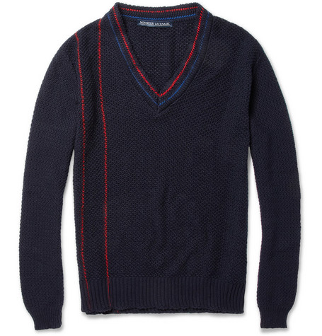 Monsieur Lacenaire Open-Knit Cotton Sweater