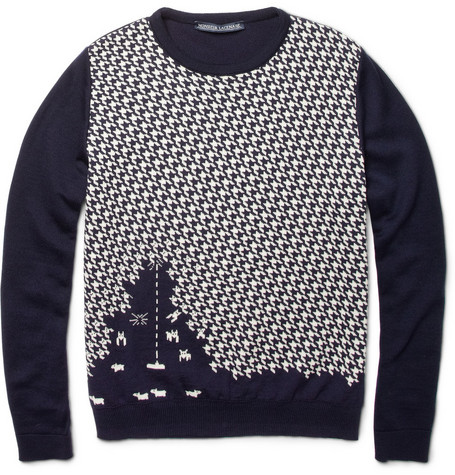 Monsieur Lacenaire Sheep Invader Merino Wool Sweater