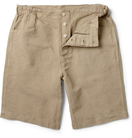 Margaret Howell MHL Cotton and Linen-Blend Shorts