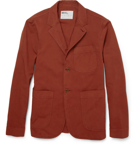 Margaret Howell MHL Garment-Dyed Cotton-Twill Blazer