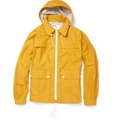 Margaret Howell MHL Waxed Cotton-Blend Packaway Jacket