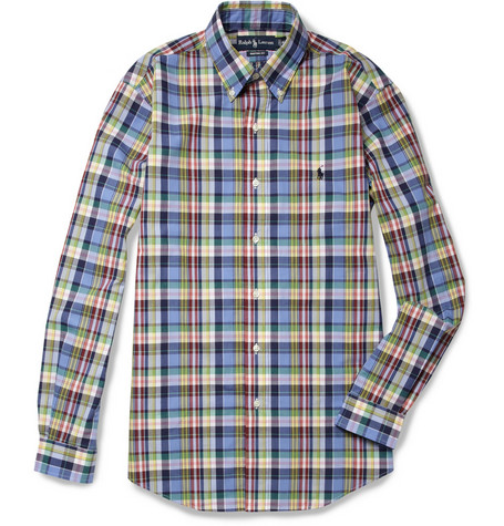 Polo Ralph Lauren Custom-Fit Madras Check Cotton Shirt