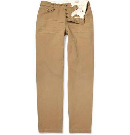Polo Ralph Lauren Washed Cotton and Linen-Blend Trousers