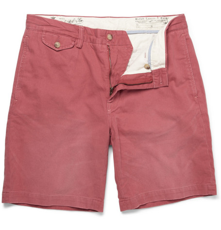 Polo Ralph Lauren Washed Cotton-Twill Shorts