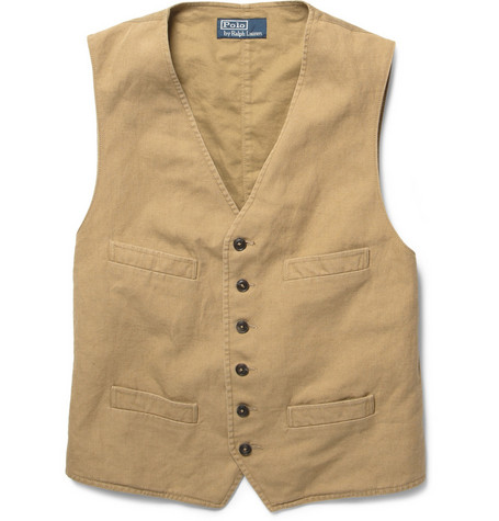 Polo Ralph Lauren Cotton and Linen-Blend Waistcoat