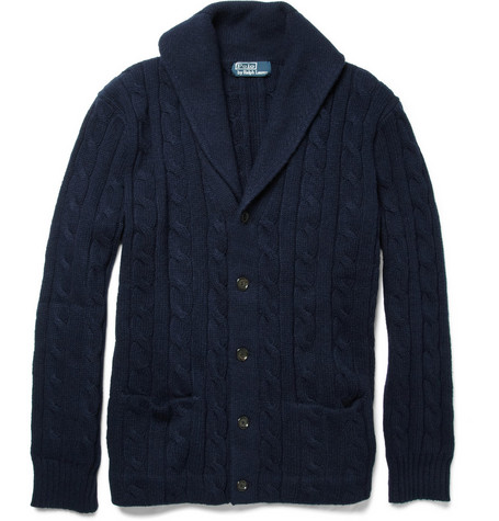 Polo Ralph Lauren Cable-Knit Cotton and Cashmere Cardigan