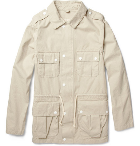Maison Kitsuné Washed Cotton-Twill Field Jacket