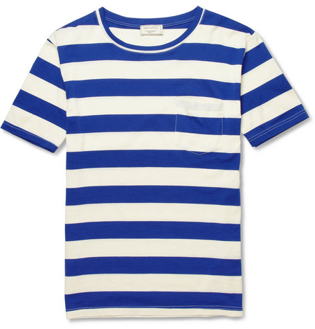 Maison Kitsuné Striped Cotton T-shirt