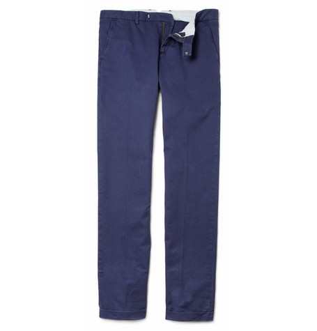 Maison Kitsuné Washed-Cotton Chinos