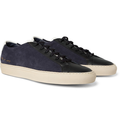 Common Projects Vintage Achilles Panelled Leather and Suede Sneakers