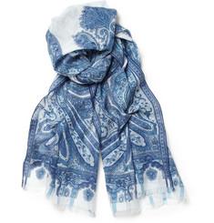 Etro Calcutta Paisley-Print Cotton Scarf