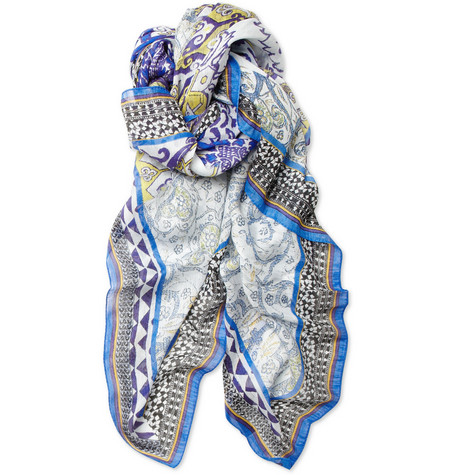 Etro Bombay Printed Linen and Silk-Blend Scarf