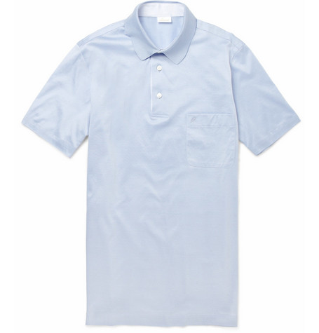 Brioni Contrast-Placket Cotton Polo Shirt