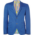 Etro Minerva Slim-Fit Silk-Blend Blazer