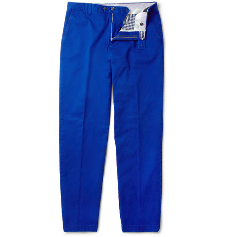 Etro Mexico Straight-Leg Cotton-Twill Trousers