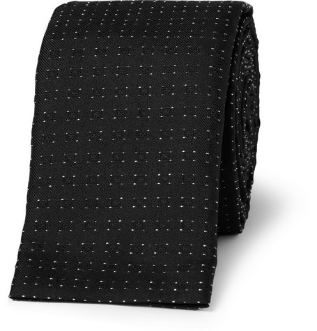 Paul Smith Shoes & Accessories Slim Flecked Silk-Blend Tie