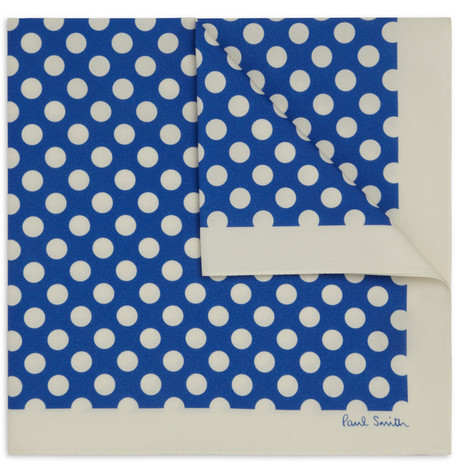 Paul Smith Shoes & Accessories Polka-Dot Cotton Handkerchief