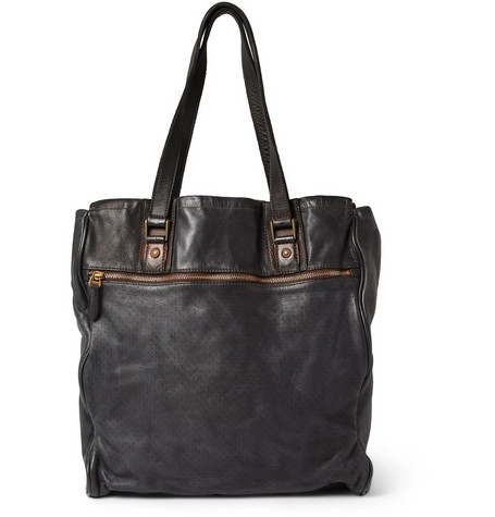 Paul Smith Shoes & Accessories Dip-Dyed Textured-Leather Tote Bag