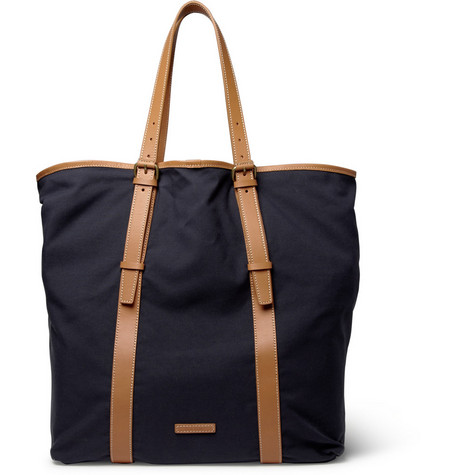 Paul Smith Shoes & Accessories Kenver Leather-Trimmed Canvas Tote Bag