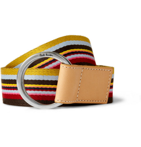 Paul Smith Shoes & Accessories Striped Canvas Belt