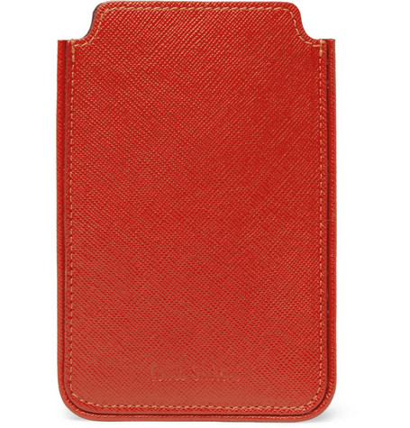 Paul Smith Shoes & Accessories Cross-Grain Leather iPhone case