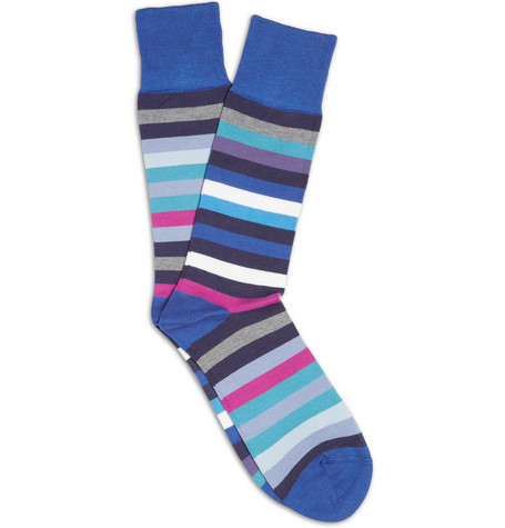 Paul Smith Shoes & Accessories Striped Cotton-Blend Socks