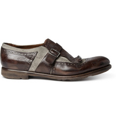 Church's Shanghai Fringed Leather and Linen Loafers