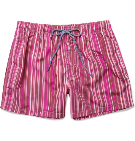 Paul Smith Shoes & Accessories Short-Length Striped Swim Shorts