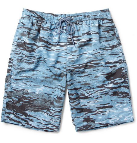 Paul Smith Shoes & Accessories Long-Length Water-Print Swim Shorts