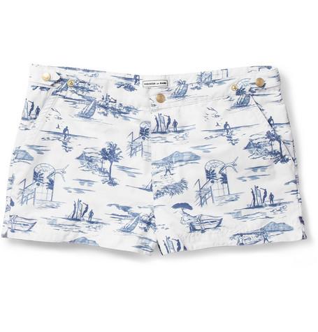 Robinson les BainsOxford Court Short-Length Jouy-Print Swim Shorts