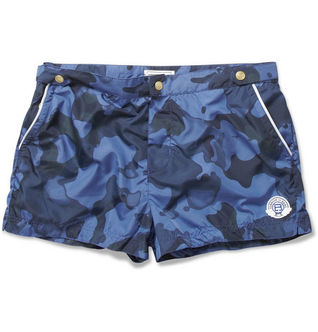 Robinson les Bains Oxford Court Short-Length Camouflage-Print Swim Shorts