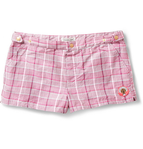 Robinson les Bains Oxford Court Short-Length Plaid Swim Shorts