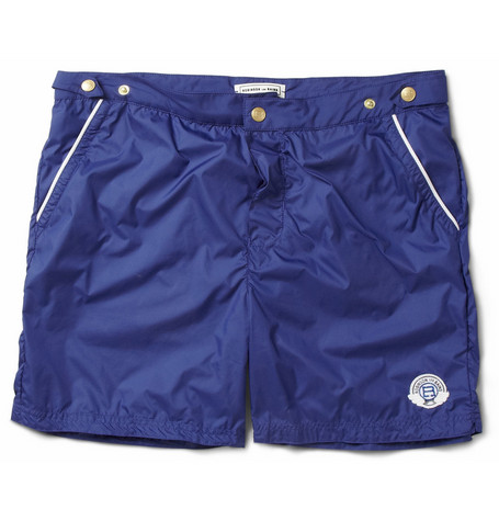 Robinson les Bains Oxford Mid-Length Swim Shorts