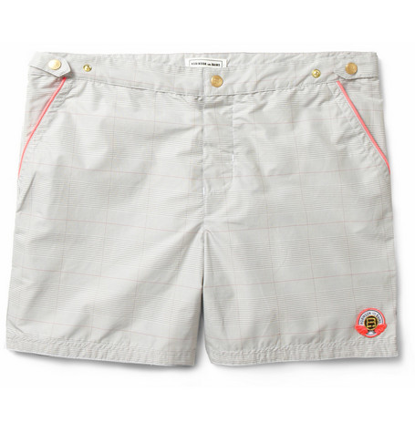 Robinson les Bains Oxford Long Prince of Wales Check Swim Shorts