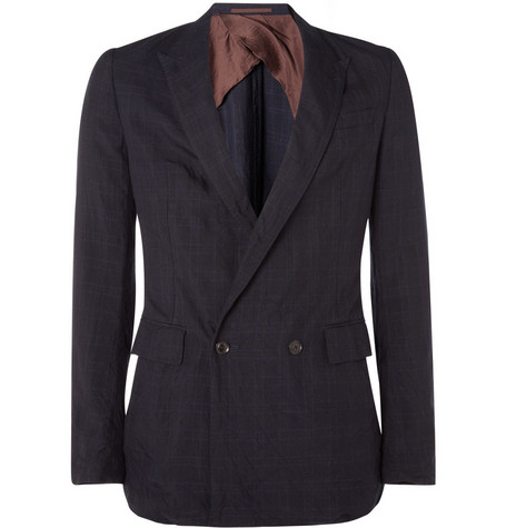 Kolor Double-Breasted Tencel Blazer