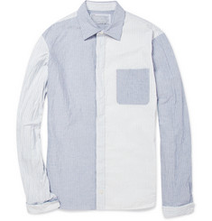 Kolor Panelled Striped Cotton-Blend Shirt
