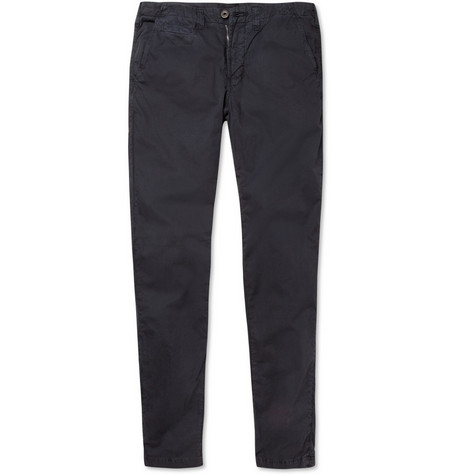 J Brand Slim-Fit Washed Cotton-Twill Chinos
