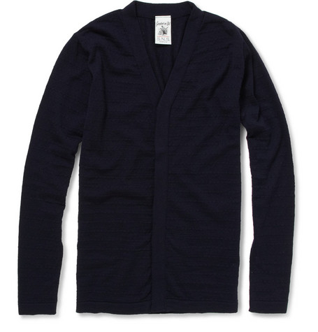 S.N.S. Herning Limbo Pointelle Knit Wool Cardigan