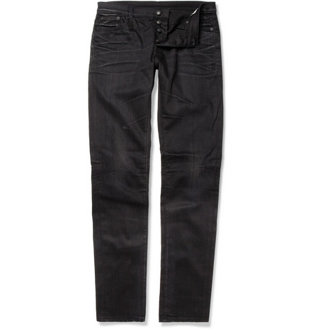 R13 Faded Denim Slim-Fit Jeans