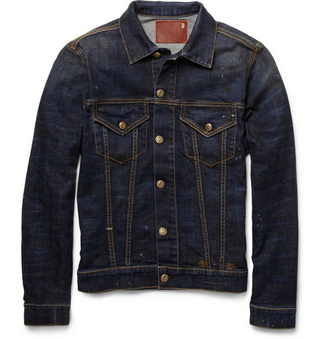 R13 Trucker Slim-Fit Denim Jacket