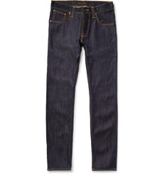 Nudie Jeans - Average Joe Straight-Fit Organic Dry-Denim Jeans
