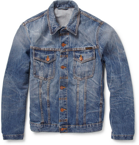 Nudie Jeans Slim-Fit Washed-Denim Jacket