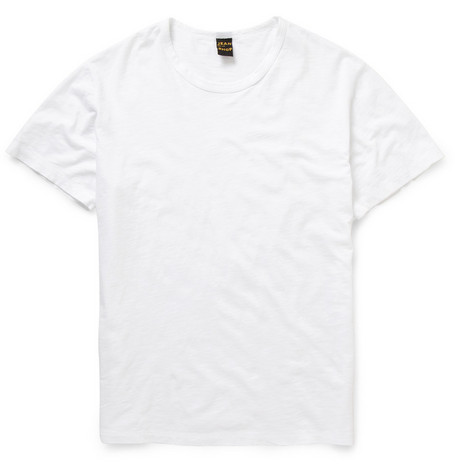 Jean Shop Slub Cotton Crew Neck T-shirt