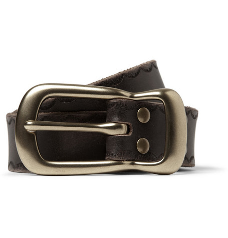 Jean Shop Vintage Effect Leather Belt