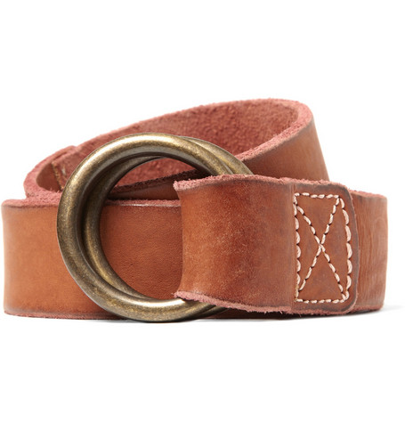 Jean Shop Double-Ring Buckle Leather Belt
