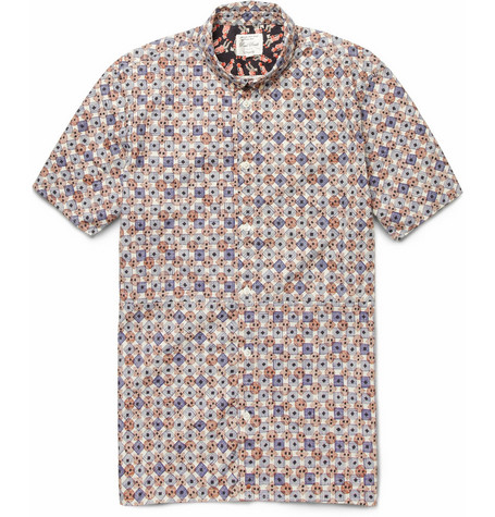 Red Ear Printed Cotton Shirt