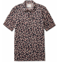 Red Ear Jazz Man-Print Cotton Shirt