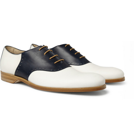 Mr. Hare Jerry Lee Contrast-Panel Leather Brogues